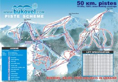 'Bukovel' Ski Resort Piste Map