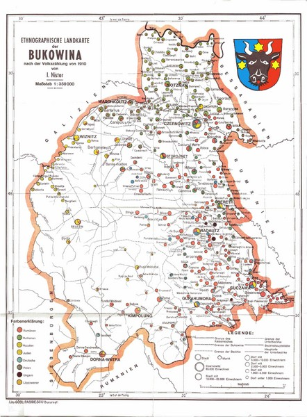 Bukovina Ethnographic Map