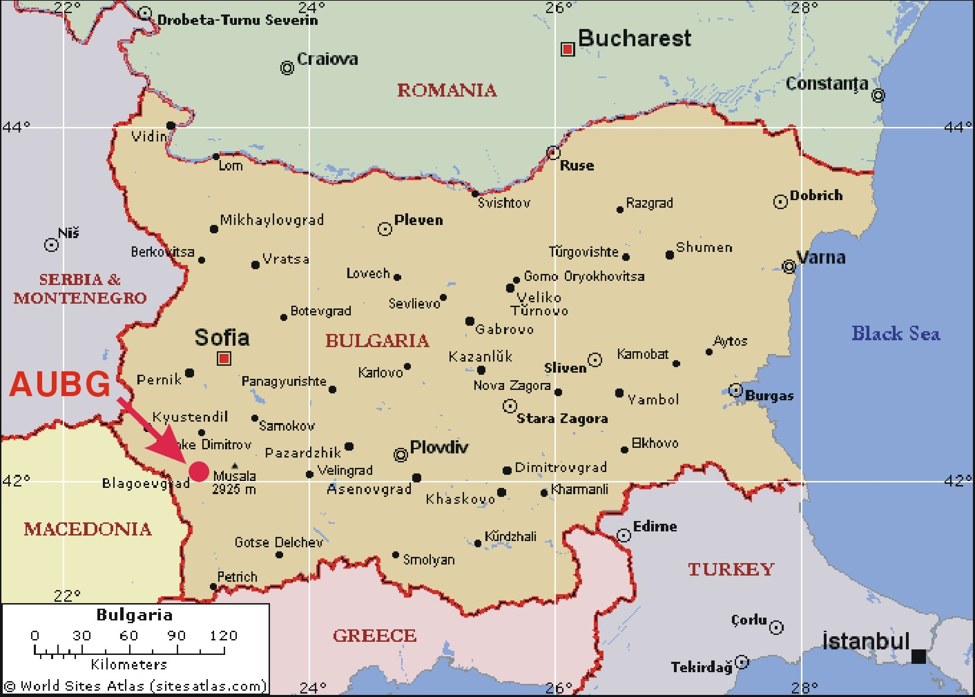 Bulgaria Tourist Map Bulgaria mappery
