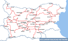 Bulgarian Railways Map
