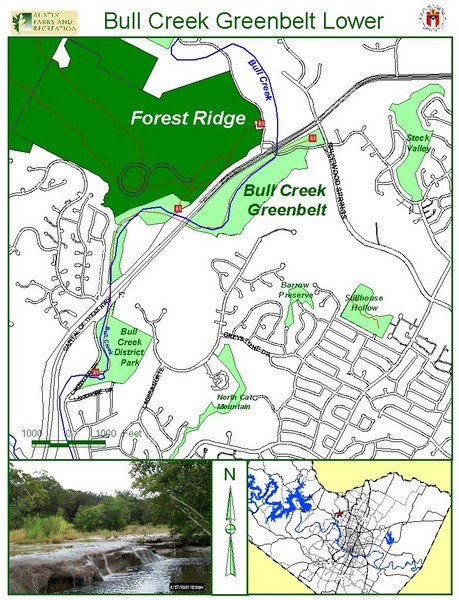 Bull Creek Greenbelt Lower Map