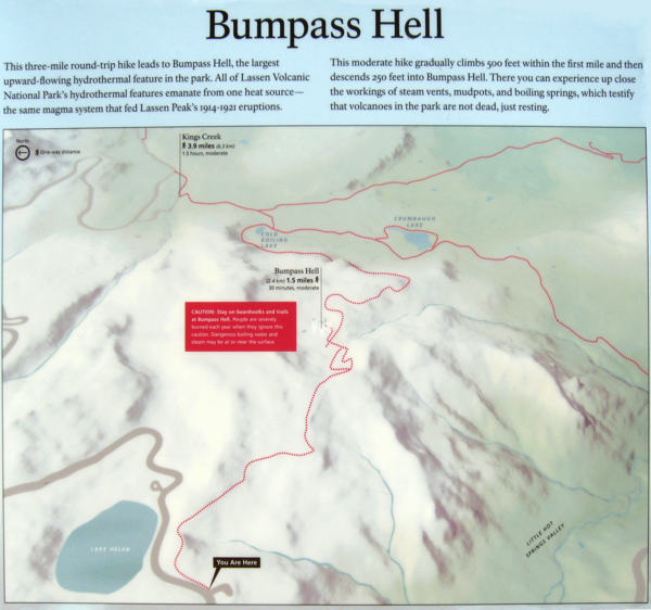 Bumpass Hell Trail Map