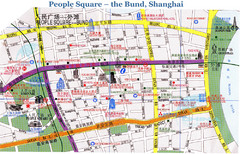 Bund Shanghai Tourist Map
