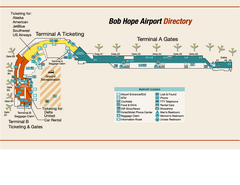 "Burbank ""Bob Hope"" Airport Terminal Map"