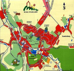 Burg Stargard Tourist Map