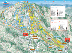 Burke Mountain Ski Trail Map