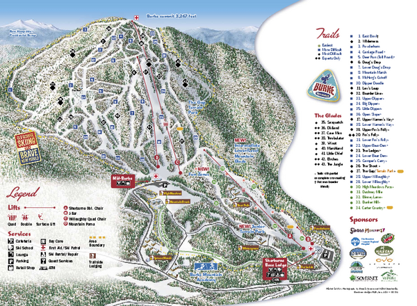 Real life map collection mappery burke mountain ski trail map publicscrutiny Images