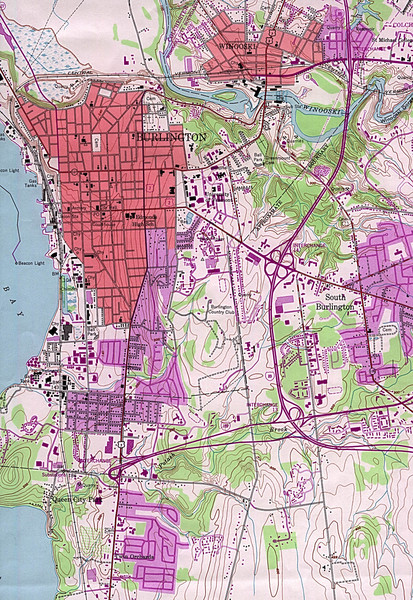 Burlington Vt 87 Map