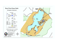 Burr Pond State Park map