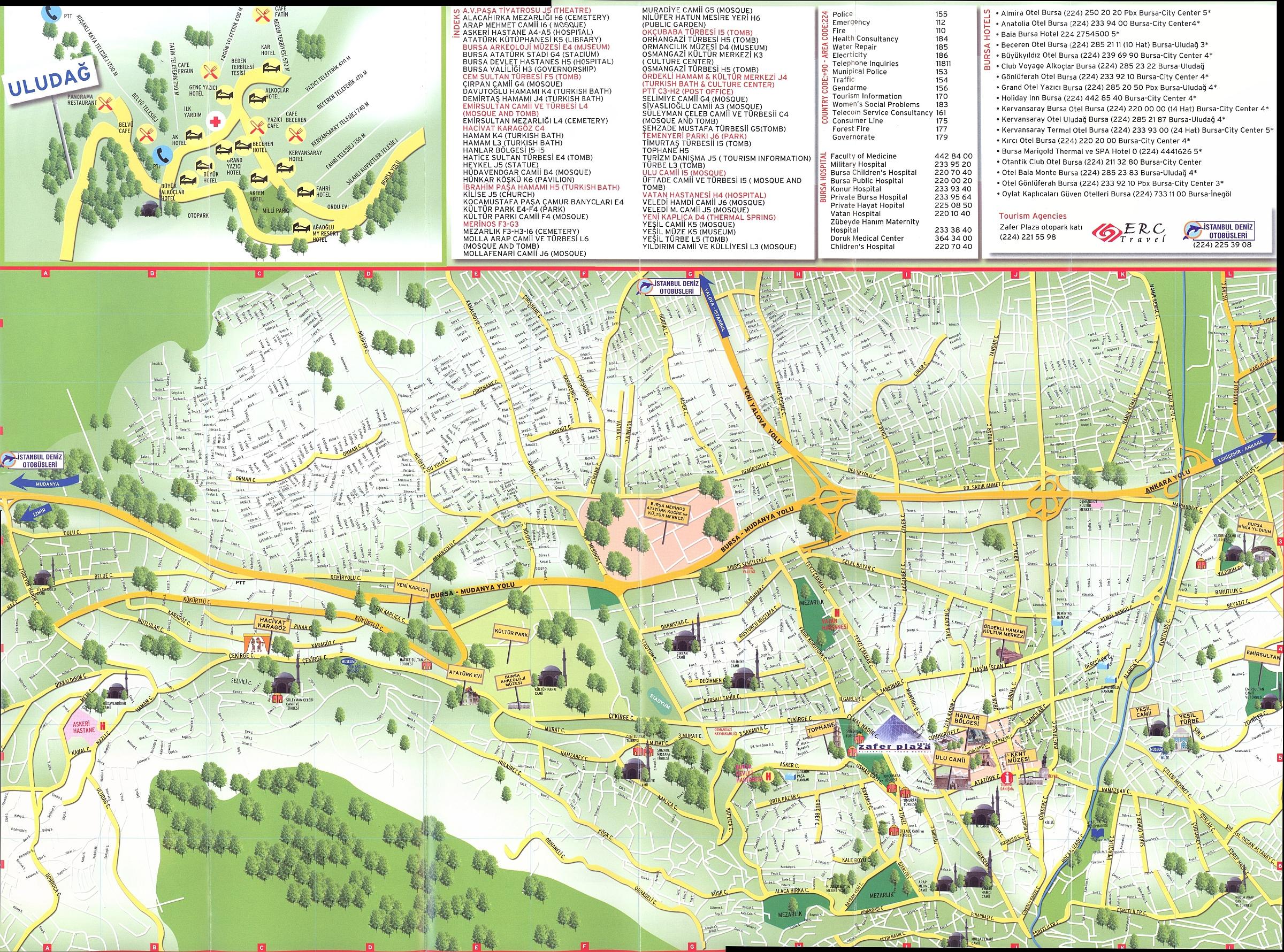 Bursa Map bursa mappery