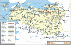 Bursa Region Highways Map