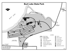 Burt Lake State Park, Michigan Site Map