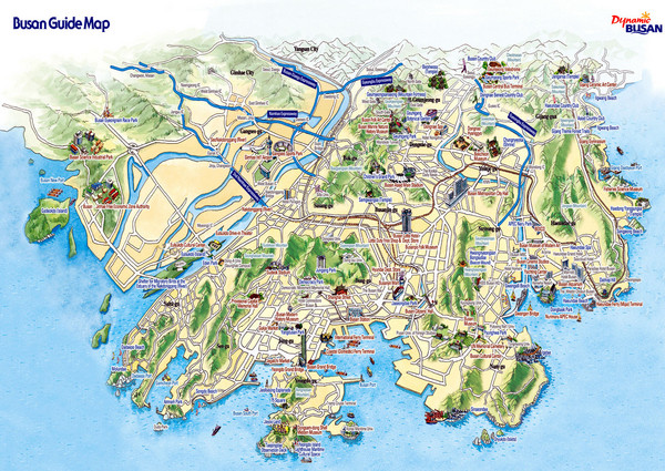 Busan City Tourist Map