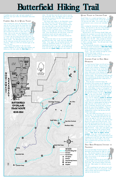 Devils Den Arkansas Map.Butterfield Hiking Trail Devils Den State Park Map West Fork Ar