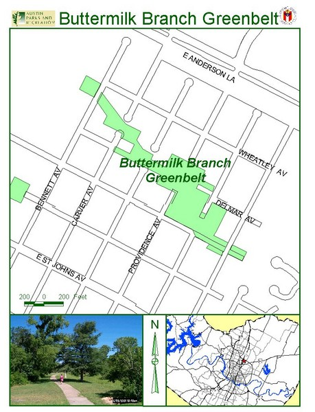 Buttermilk Branch Greenbelt Map