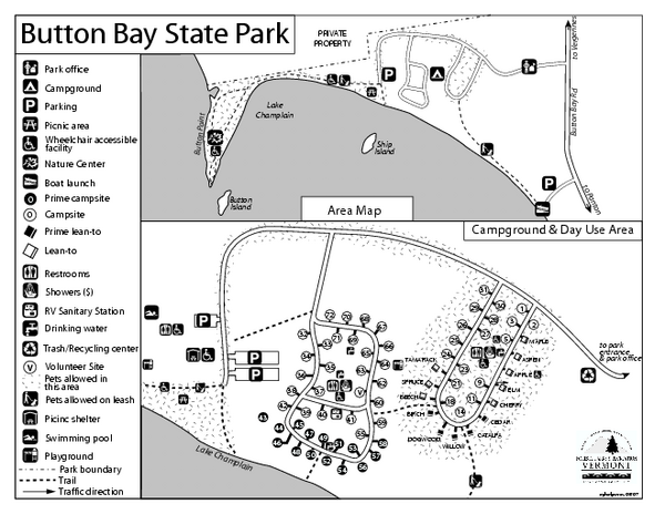 Button Bay State Park Campground Map