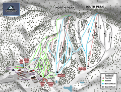 Caberfae Peaks Ski & Golf Resort Ski Trail Map