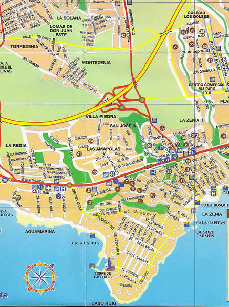 Cabo Roig Tourist Map
