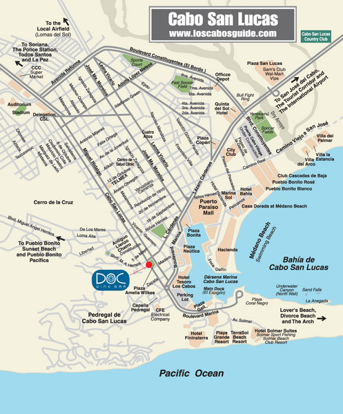 Cabo San Lucas Restaurant Map - Cabo San Lucas • mappery Cabo San Lucas Map on