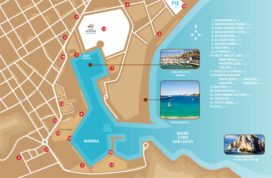 Image Result For Cabo St Lucas Mexico Map