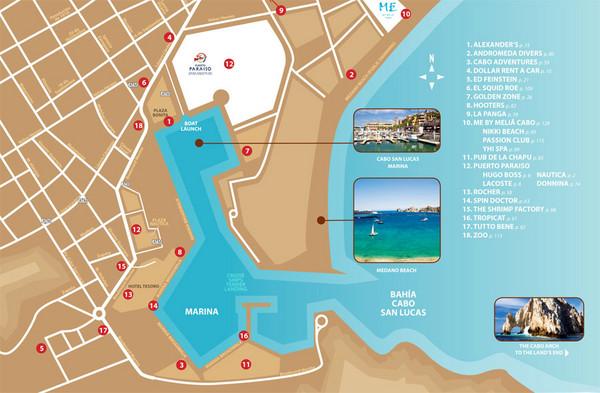 Cabo San Lucas Tourist Map - Cabo San Lucas • mappery Cabo San Lucas Mexico Map on