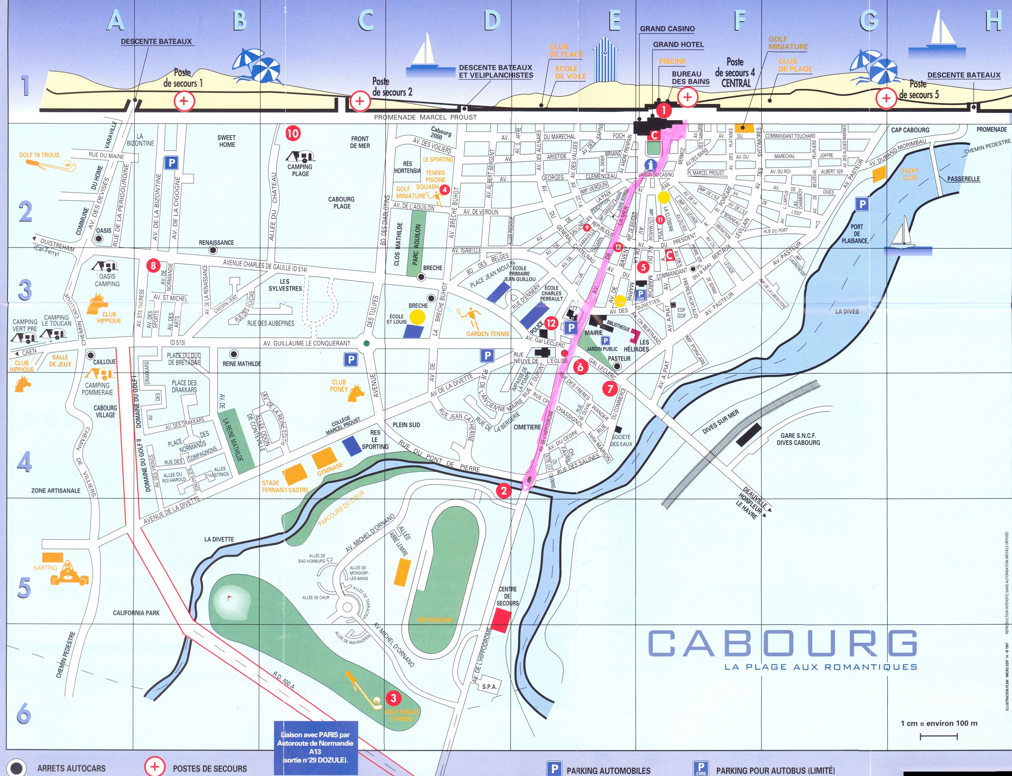 cabourg-map