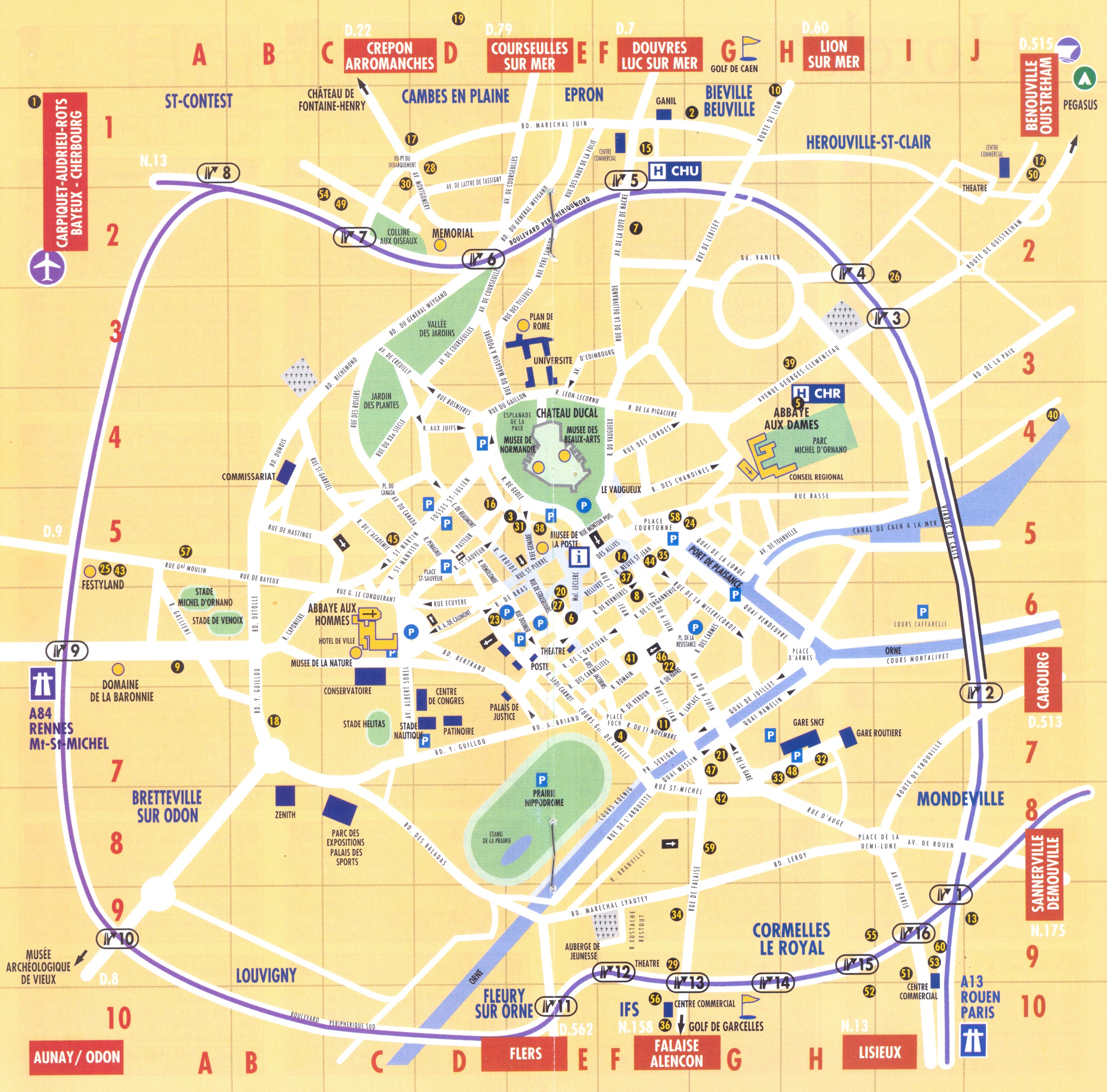 Caen Map - Caen FR • mappery