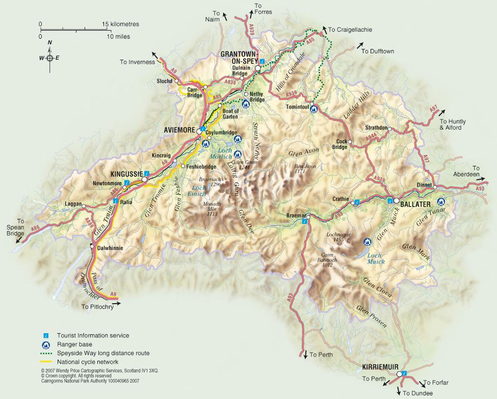 National Parks Uk Map.Cairngorms National Park Map Cairngorms National Park Uk Mappery