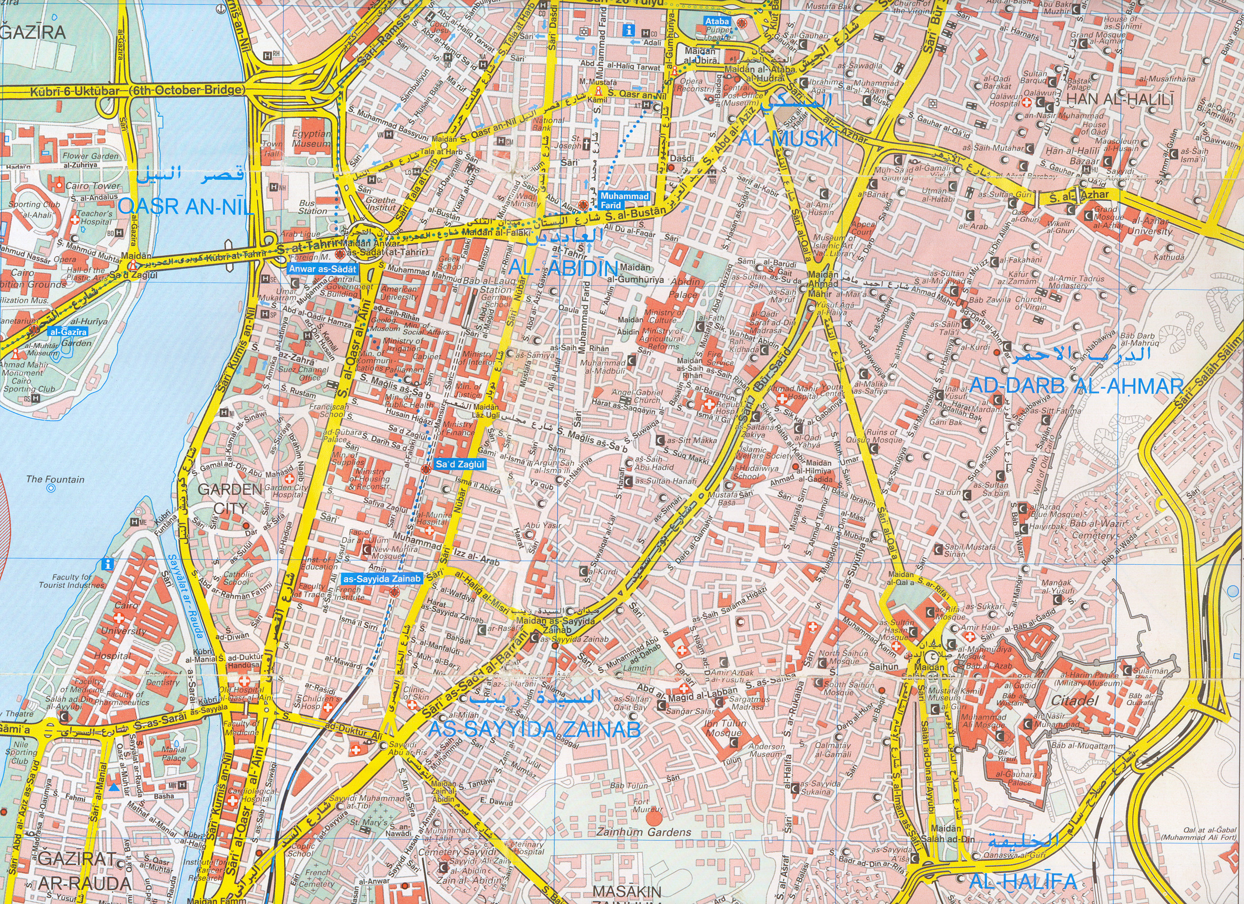Cairo Egypt Tourist Map Cairo Egypt mappery
