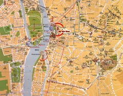 Cairo, Egypt Tourist Map