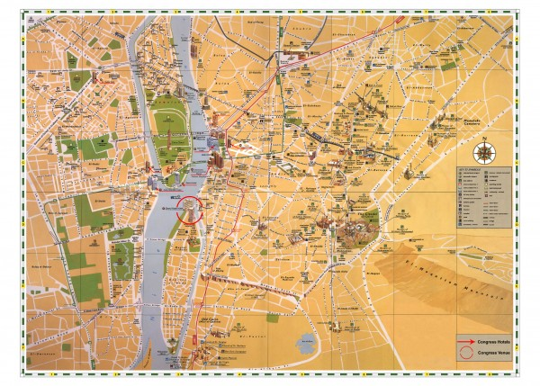 Cairo Tourist Map Cairo Egypt mappery – Egypt Tourist Attractions Map