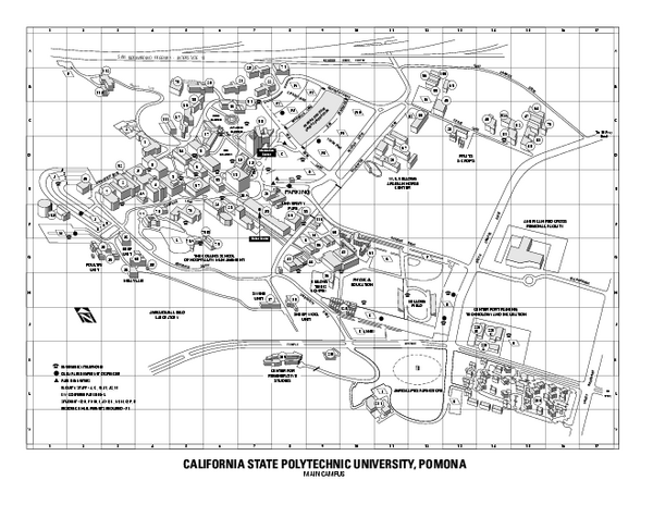 Cal Poly Pomona Map Cal Poly Pomona California Mappery
