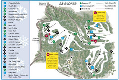 Caledon Ski Club Ski Trail Map