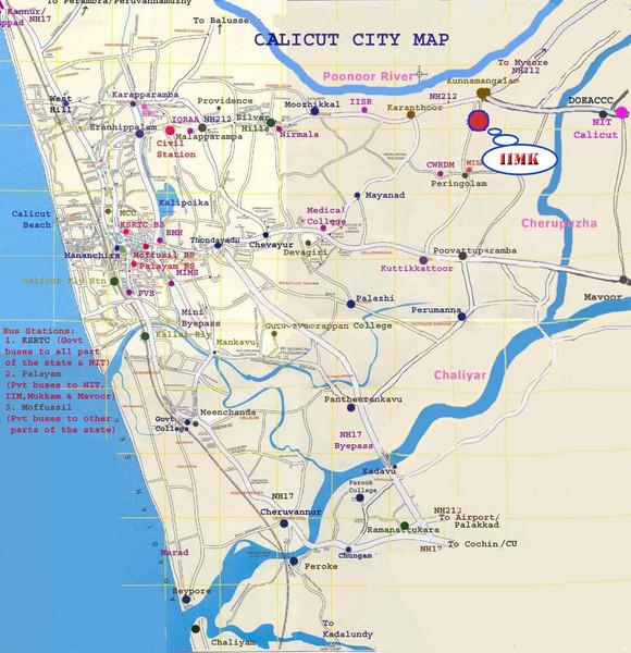Calicut City Map Calicut City India Mappery