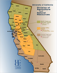 California Agricultural Region Map