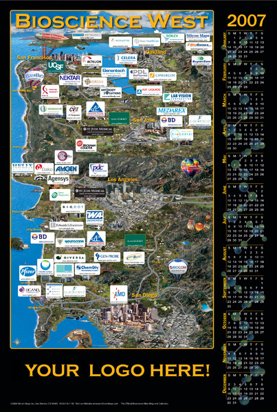 California Bio-science Company Map