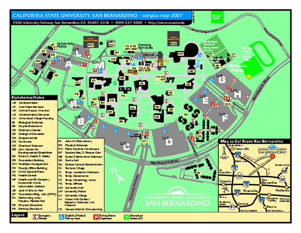 California State University   San Bernardino Map   San Bernardino