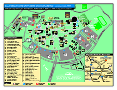 California State University - San Bernardino Map