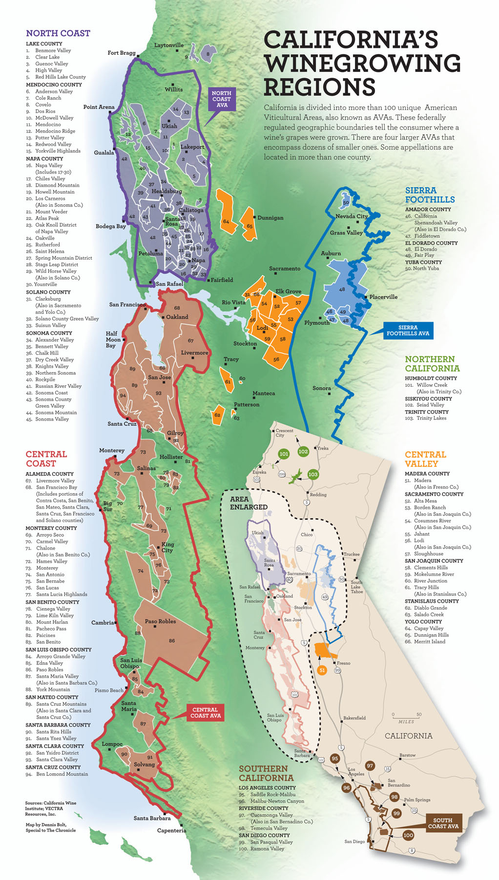 California wine map california mappery for California wine