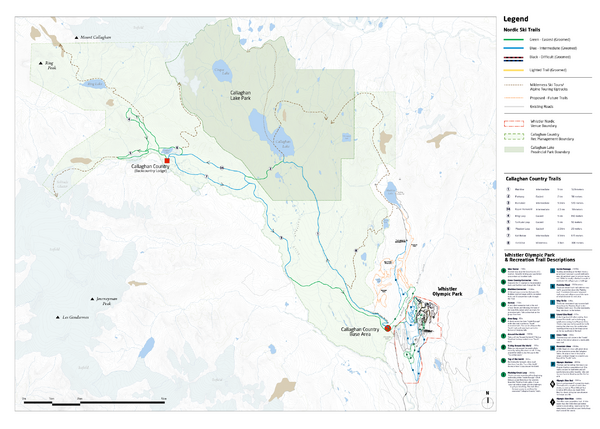 Callaghan Country Nordic Ski Trail Map