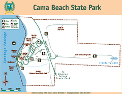 Cama Beach State Park Map