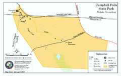 Cambell Falls State Park map