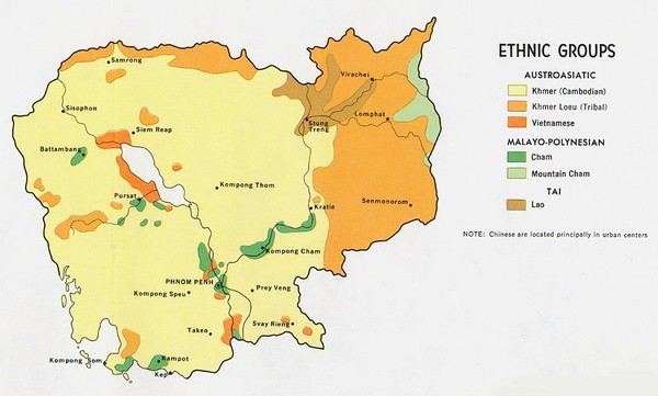 Cambodia Ethnic Groups Map