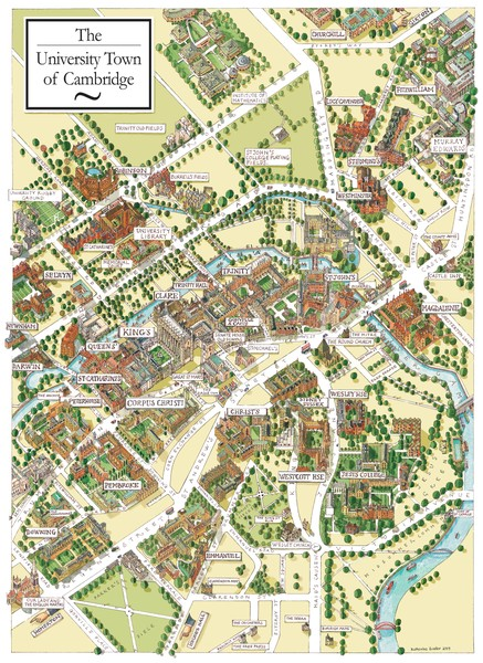 Cambridge England Map