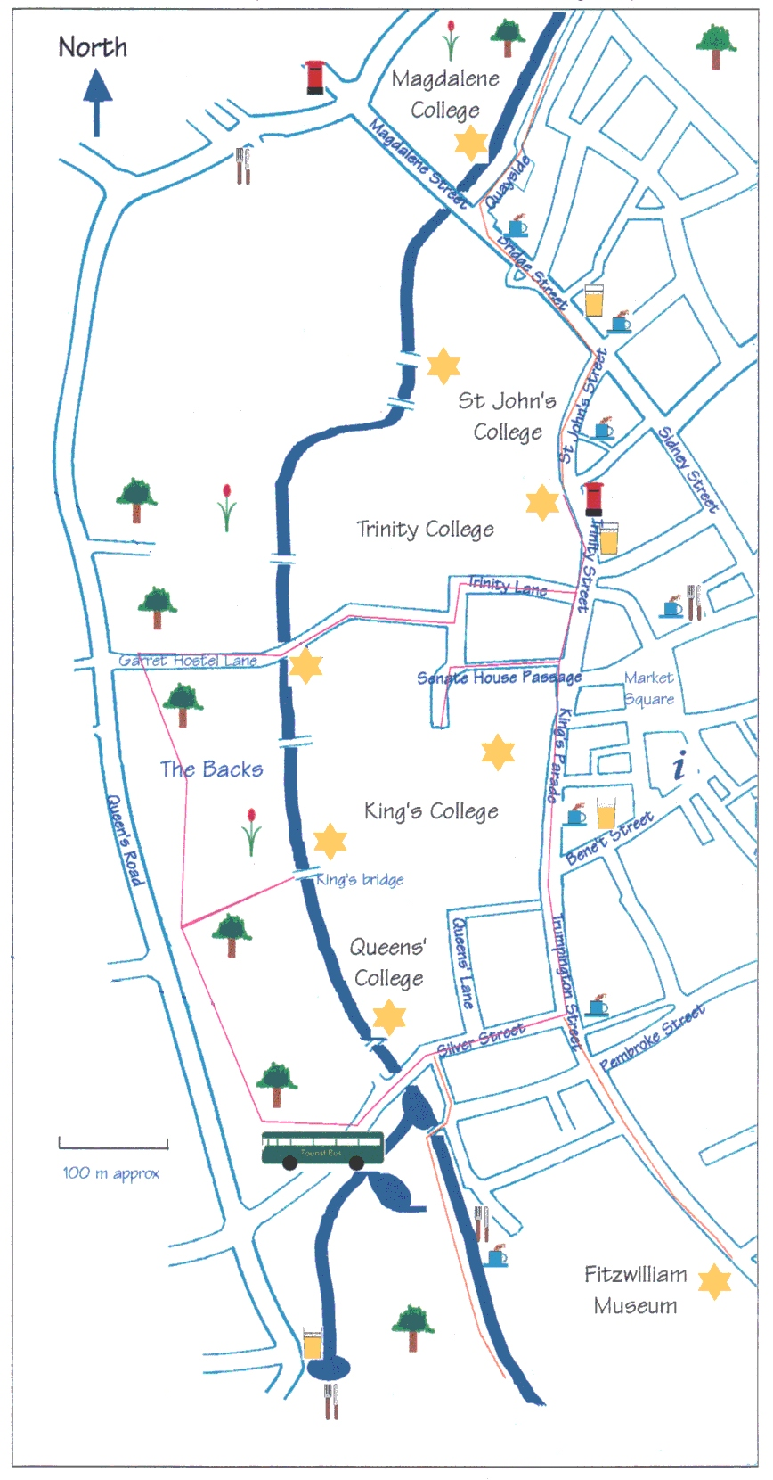 Cambridge Walking Map Cambridge UK mappery