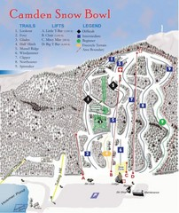 Camden Snow Bowl Ski Trail Map