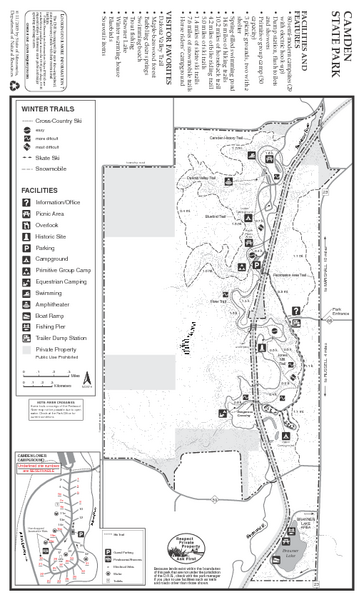 Camden State Park Winter Map