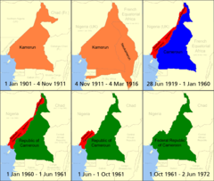 Cameroon boundary changes Map