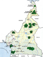 Cameroon parks Map