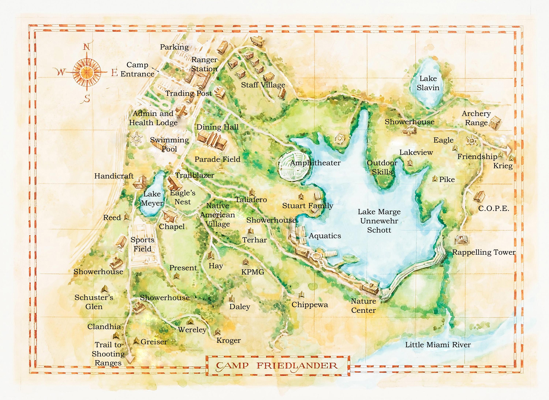 Camp Friedlander Summer Camp Camp Friedlander Map